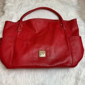 Dooney & Bourke Red Leather Giant Tote Bag